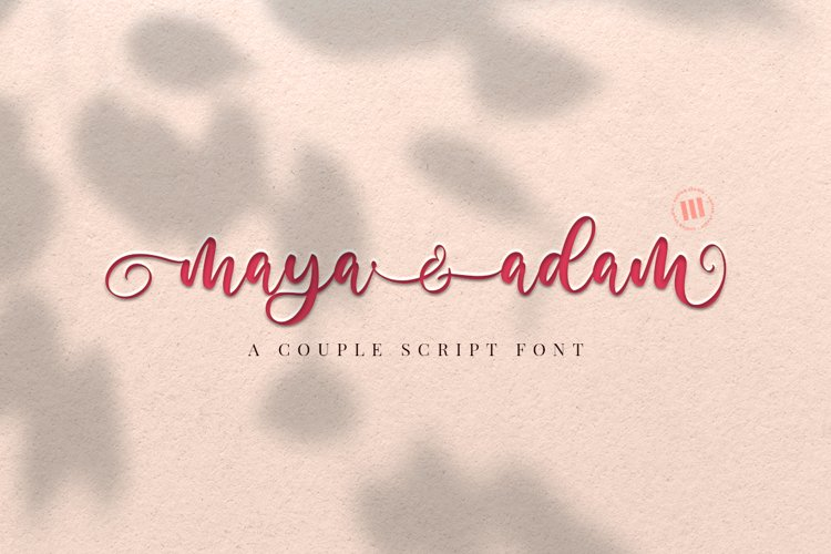Maya and Adam - A Couple Script Font example image 1