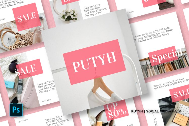 Putyh Social Media Pack example image 1