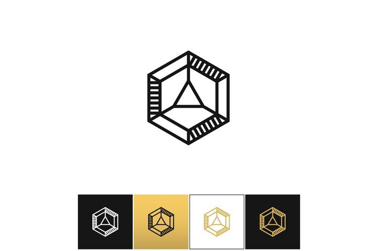 Cube 3d brick logo vector icon example image 1