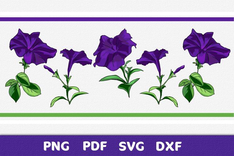 Ornament flowers purple design element