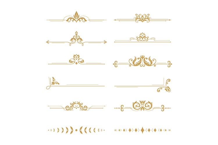 Elegant damask dividers. Vintage boutique flower divider, go example image 1