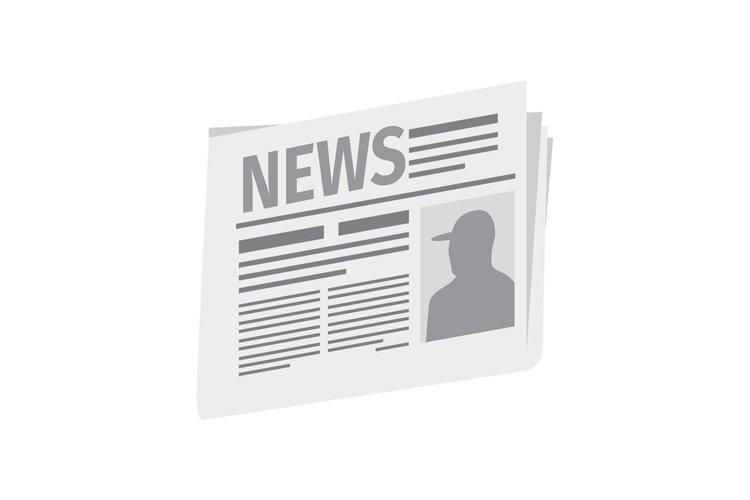 Fresh newspaper isolated on white background example image 1
