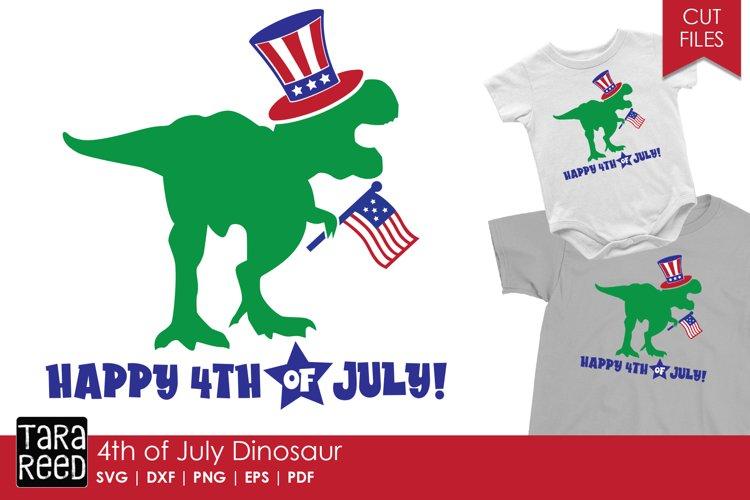 4th of July Dinosaur - Patriotic SVG and Cut Files