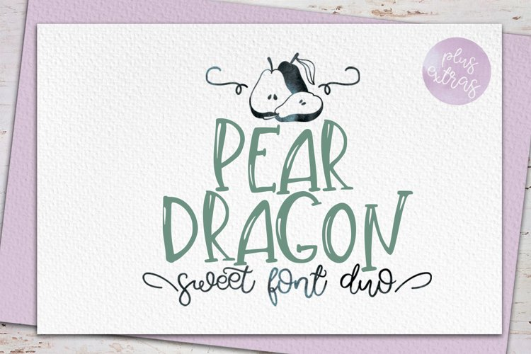 Pear Dragon.Sweet font duo&extras example image 1