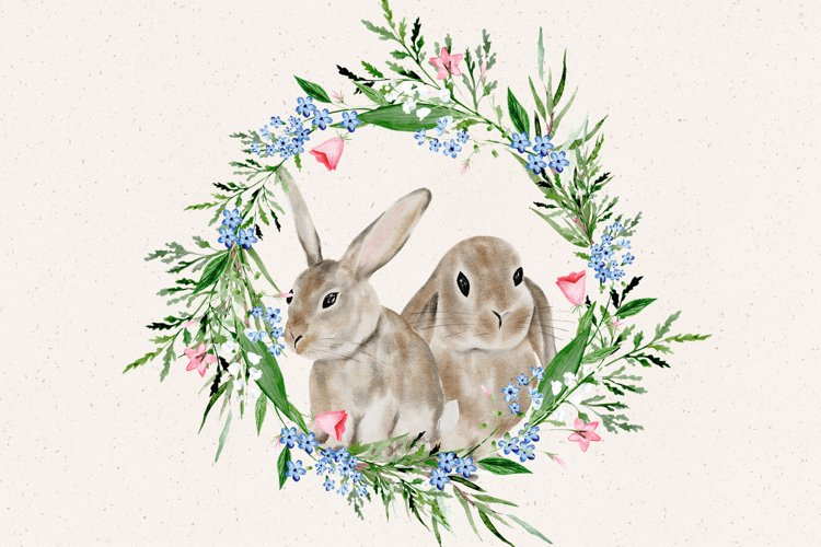 Easter Bunny Watercolor Clipart, Sublimation png