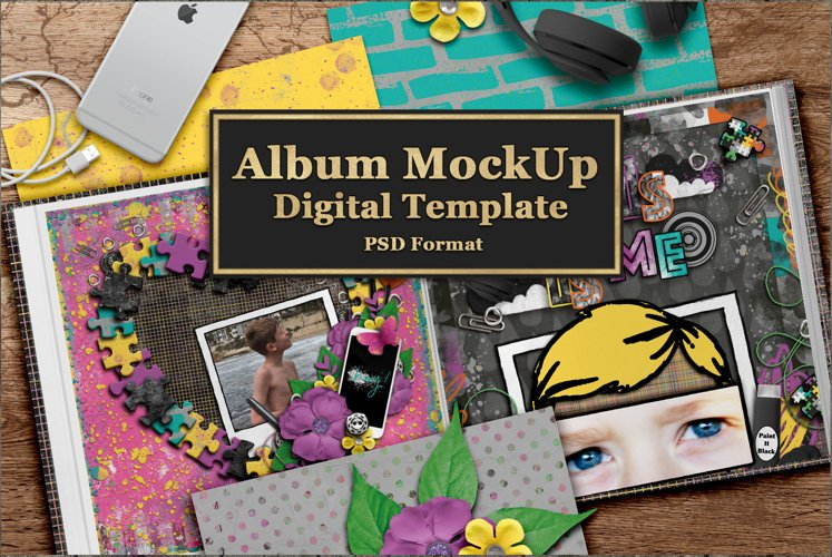 Book or Album MockUp Template