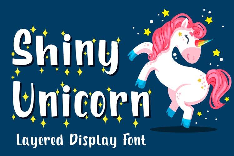 Shiny Unicorn - Display Font example image 1