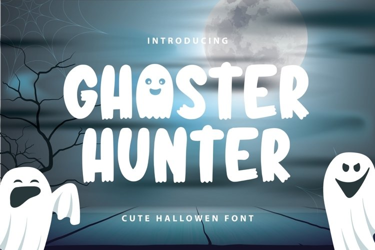 Ghoster Hunter | Cute Horror Font example image 1