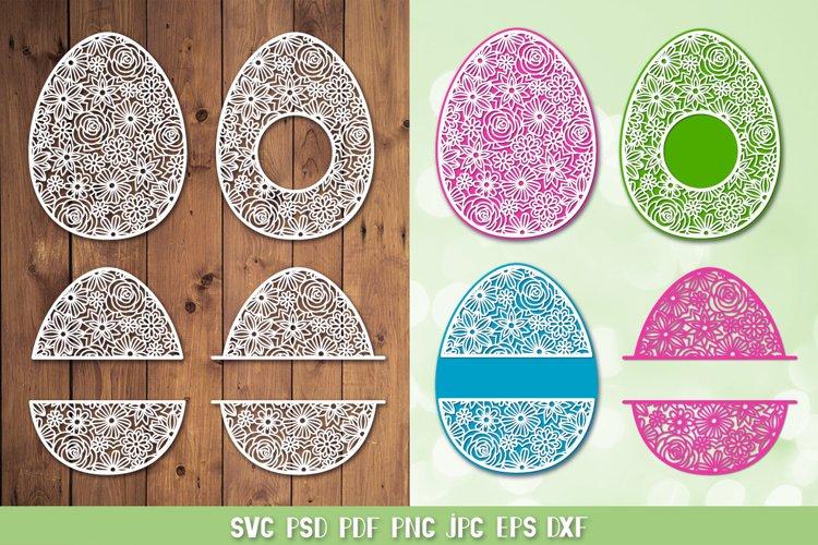 Easter Egg SVG,Easter Monogram SVG,Easter Paper Cutting SVG