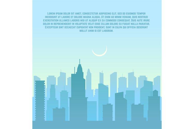 City skyline, urban cityscape vector illustration example image 1