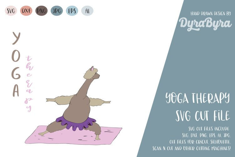 Yoga Therapy SVG / Llama SVG / Inhale Exhale / Yoga Vector example image 1