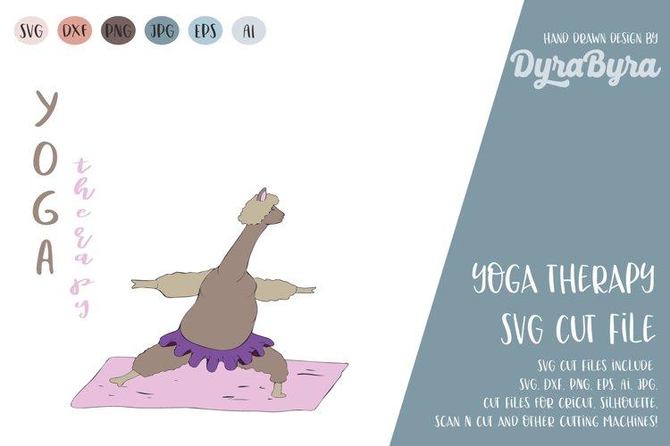 Yoga Therapy SVG / Llama SVG / Inhale Exhale / Yoga Vector