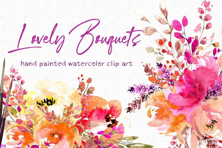 Lovely Bouquets - Watercolor