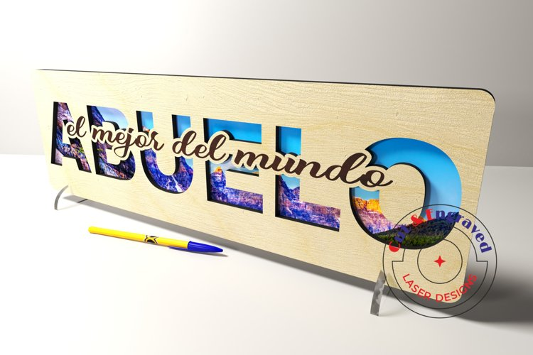Abuelo sign vector files. Father's day . Glowforge ready. example image 1