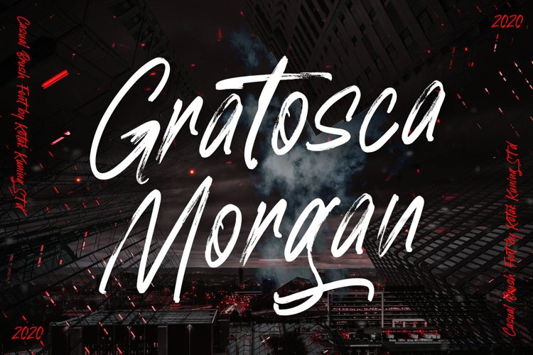 Gratosca Morgan Brush Font example image 1