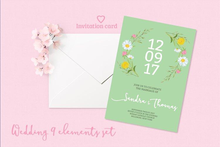 Summer Wedding Invitation Set example image 1