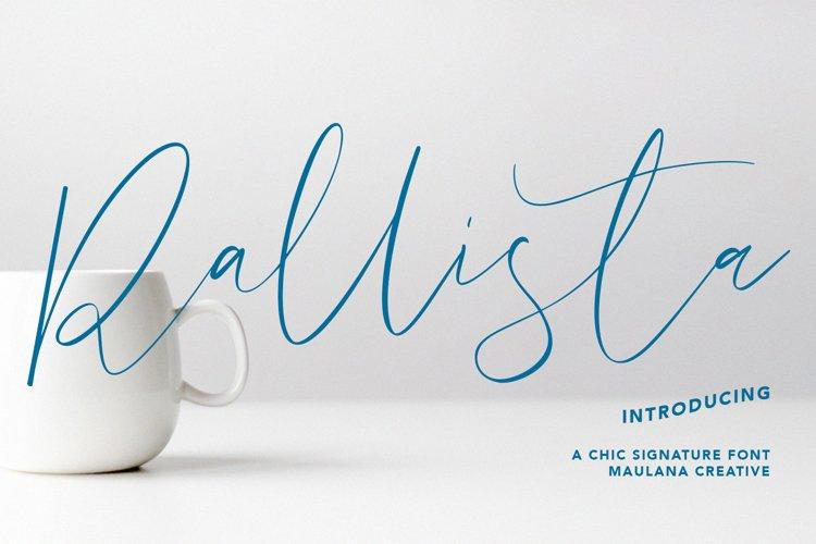 Rallista Chic Signature Font example image 1