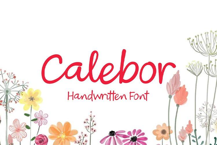 Calebor - Handwritten font