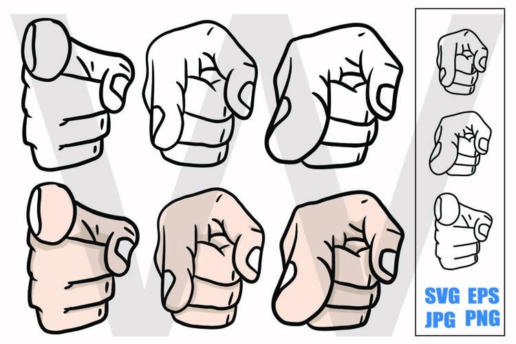 Pointing Finger - SVG/EPS/JPG/PNG