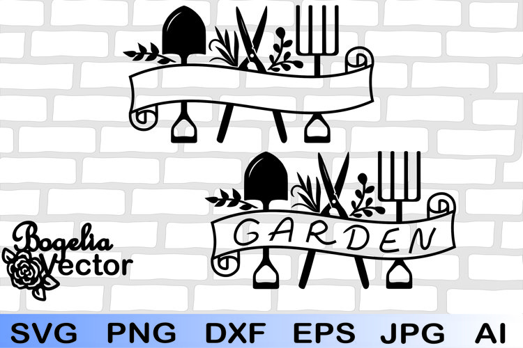 Garden Tools Frame Svg, Gardening Elements Svg, Farm Tools