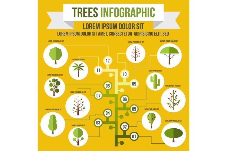 Tree infographic, flat style example image 1