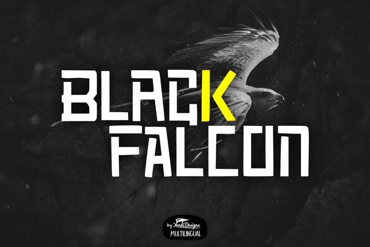 Black Falcon Font example image 1