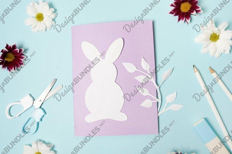 DIY ideas instruction for making Easter Card. handmade card