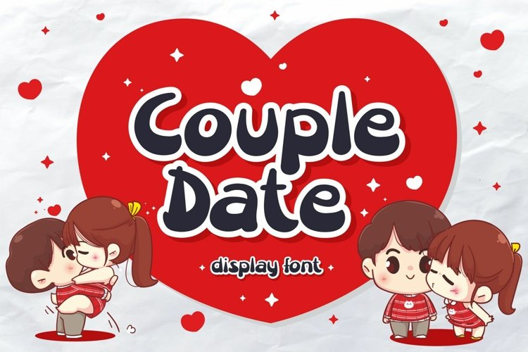 Couple Date Display Font
