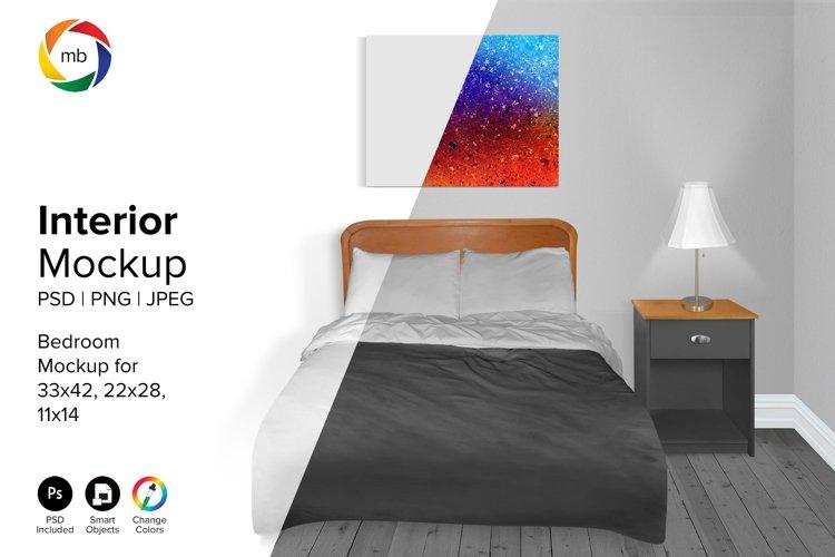 Bedroom Mockup 11x14, 22x28, 33x42 - PSD, PNG, JPG