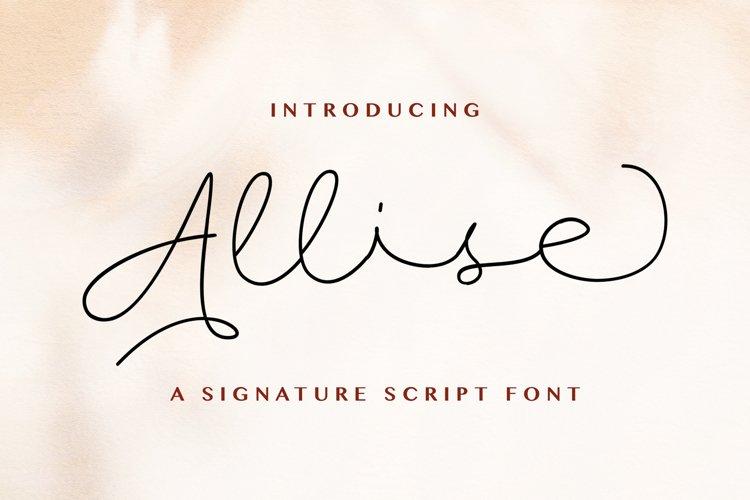 Allise - Signature Script Font example image 1