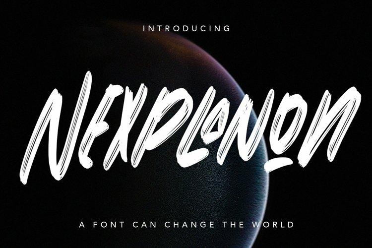 Web Font Nexplanon - Regular Display Font example image 1