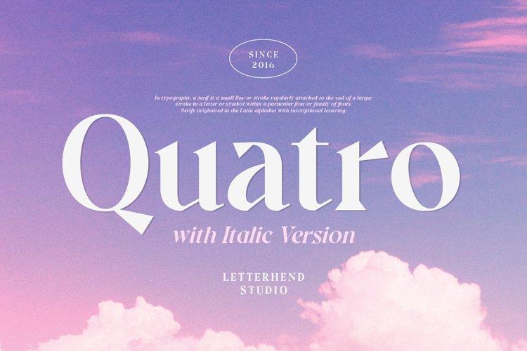 Quatro - A Modern Serif Font example image 1