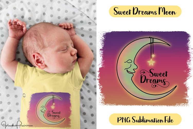 Moon and Stars Sweet Dreams Sublimation File