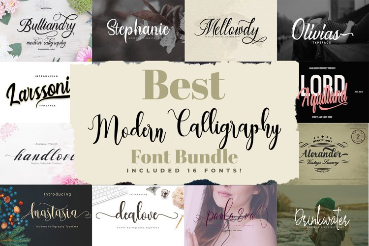 Best Modern Calligraphy Font Bundle example image 1