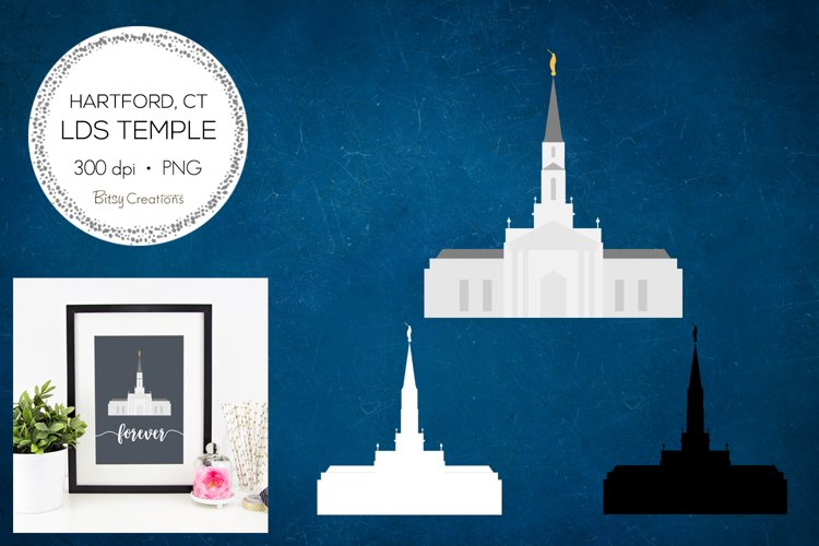 Hartford Connecticut LDS Temple Clipart example image 1