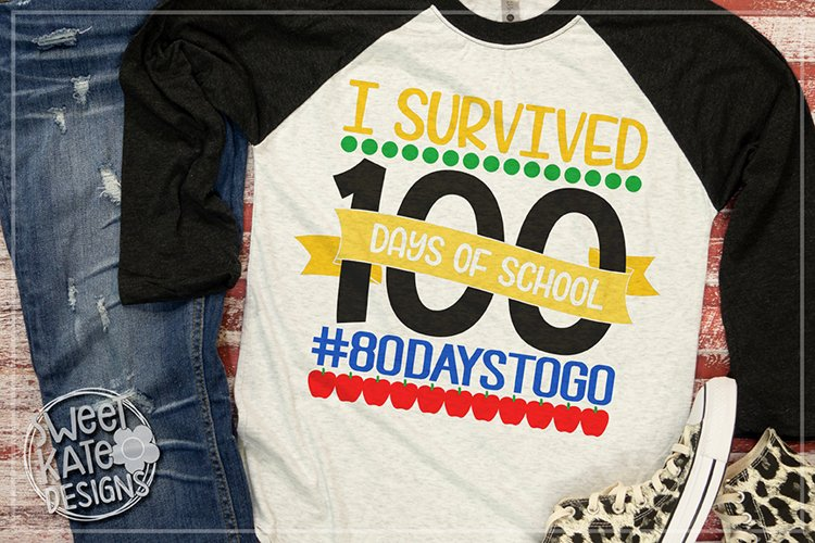 I Survived 100 Days of School SVG DXF EPS PNG JPG example image 1