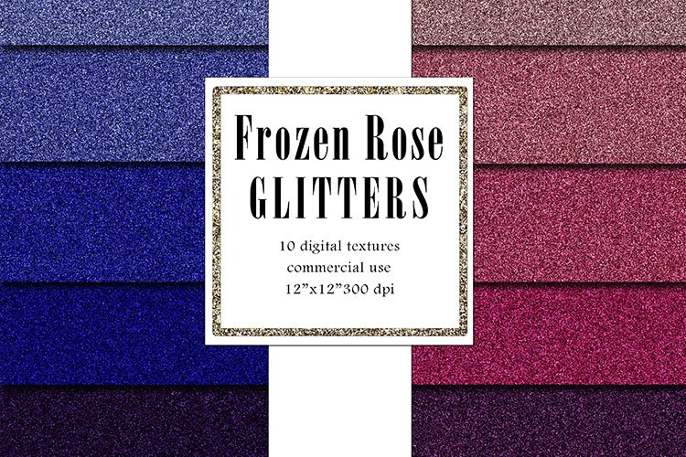 FROZEN Rose Glitters Pack