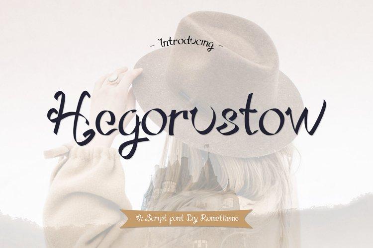 Hegorustow Font example image 1