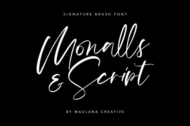 Monalls Script Signature Brush Font example image 1