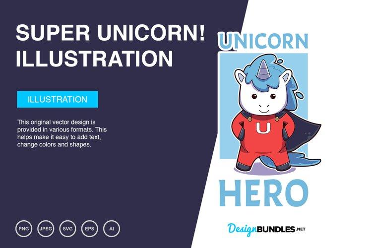 Super Unicorn Vector Illustration