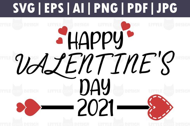 2021, Happy Valentine's Day svg, Valentine Cupid, 2021 vday example image 1