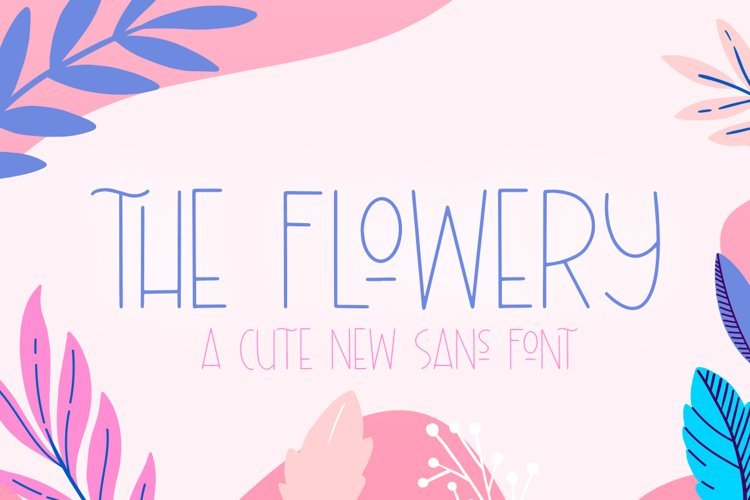 The Flowery Font example image 1