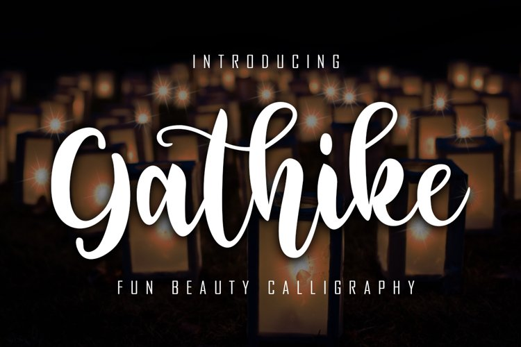 Gathike Fun Beauty Calligraphy example image 1