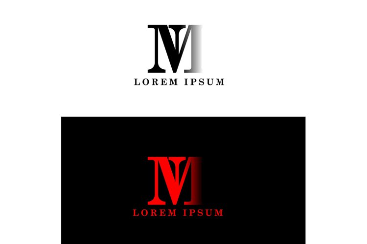 m logo initial letter design template vector example image 1