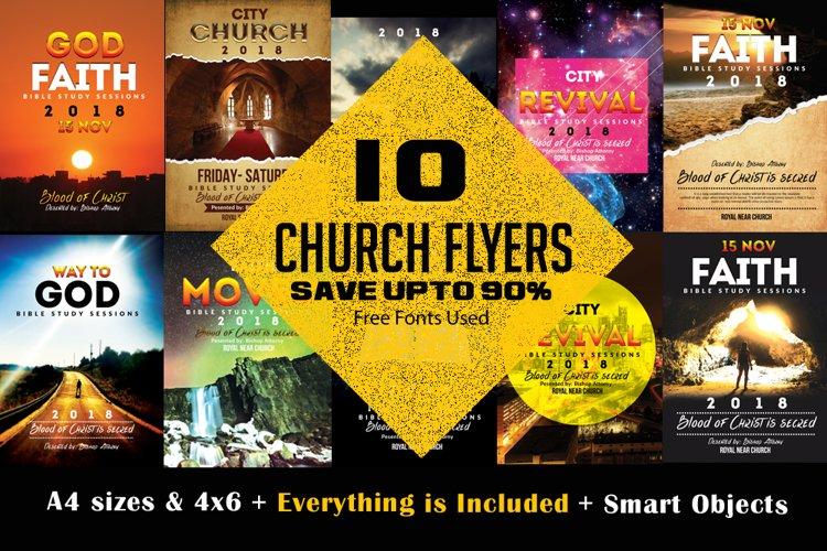 10 Church Flyers Bundles example image 1