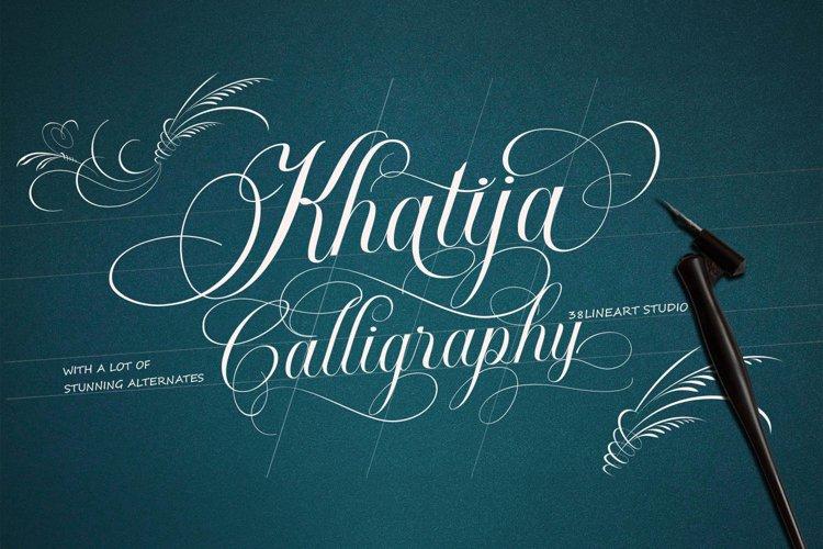 Khatija Calligraphy example image 1