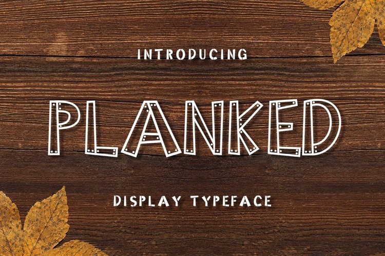 Web Font Planked example image 1