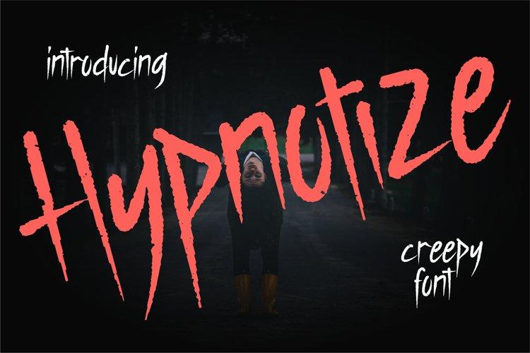Hypnotize | Creepy Font example image 1