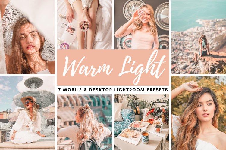 Warm Light Mobile & Desktop Lightroom Presets Photo