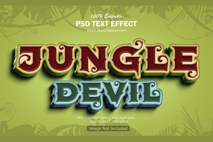 Jungle Devil Text Effect example image 1